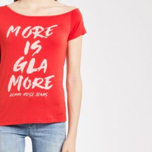 t-shirt in viscosa scollo sceso su omero 011ND64011