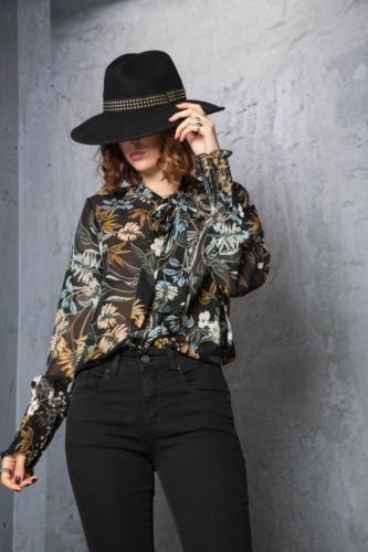 camicia-con-sciarpina-stampa-floreale
